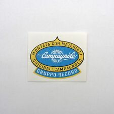 Vintage 1960s, 70s 'Campagnolo Gruppo Record' Frame Decal Reproduction