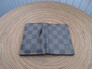 USED-Louis Vuitton Damier Ebene Pocket Organiser/Card Holder - V Good Condition