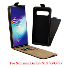 Vertical Leather Flip Case Mobile Phone Cover Pouch for Samsung Galaxy S10 5G