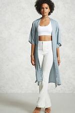 Forever 21 Open-Front Kimono Dusty blue Size Medium