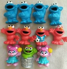 "Hasbro Sesame Street Workshop Figure Lot 3"" Cookie Monster Grouch Elmo Abbey"
