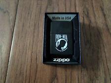U.S MILITARY POW/MIA ZIPPO OFFICIAL LICENSED BLACK LIGHTER U.S.A MADE ZIPPO'S