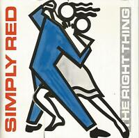 Simply Red - The Right Thing 7 inch vinyl single in foldout sleeve