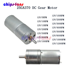 12V DC 60/100/600RPM Powerful Torque Micro Speed Reduction Gear Box Motor