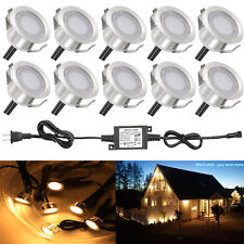 10XWarm White 31mm Stainless Steel Yard Landscape Driveway LED Deck Stair Lights