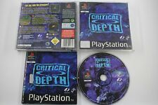 PLAY STATION PSX PS1 CRITICAL DEPTH COMPLETO PAL ESPAÑA