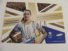 VICTORIA PENDLETON GB Cyclist  Signed Promo Photo Card  Olympics 2012 Autograph