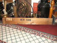 Antique Mercedes Benz Wood Board Plank-Shipping Container-New York-Wall Art-Lge