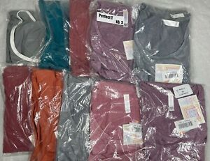 10 LuLaRoe Perfect T Shirt Top Size XS 3 Solid Colors