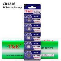 5pcs 3V CR1216 DL1216 ECR1216 Button Coin Cells Li Batteries for CMOS Watch