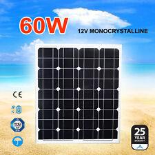 60W 12V Solar Panel Kit Generator Caravan Camping Power Mono Battery Charging