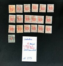 Indo-China Stamps (Indo-Chine), 19 Used/cancelled Stamps,SCV 2009=$24.10, #273