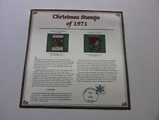8 Cent Adoration of Shepherds, Partridge in a Pear Tree 1971 Christmas Stamps