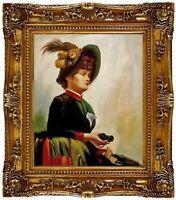ÖLBILD, Anna Bilinska, Portrait,  HANDGEMALT F:50x60cm REDUZIERT,TOTALABVERKAUF