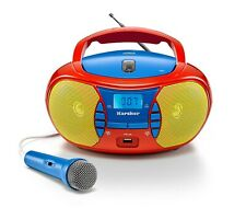 Karcher RR 5026 tragbarer CD Player für Kinder - UKW Radio - USB - Mikrofon