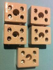 5 x 2 VIE 2 poli isolante porcellana Morsettiera connettore 15A ANTI BRUCIATURE