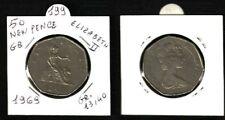 Regno Unito 50 NEW PENCE 1969 ELIZABETH II - GR.13,40   BB+    N.199