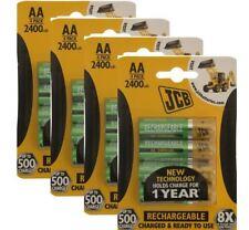 12 x JCB AA Batterie Ricaricabili 2400 mAh HR6 cariche e pronte per l'uso