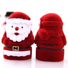 Earring Jewelry Case Display Santa Case Velvet Box Jewelry Ring Box Ring Case