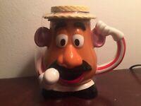 Disney Parks Toy Story Mania Mr Potato Head Coffee Mug with Removable Lid NEW