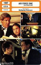 Fiche Cinéma. Movie Card. Air Force One (USA) 1997 Wolfgang Petersen
