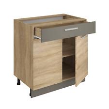 Küchenschrank ALINA 80 cm Unterschrank Küche Einbauküche Sonoma Eiche NEU
