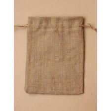 NEW 12 Khaki beige sack cloth favour bags wedding party confectionary 19x14cm
