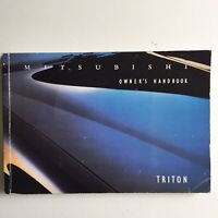 Genuine MItsubishi Triton Owners Handbook PB 2002