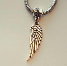 Angles Wings Remember Loss Memorial Freedom Dangle Charm Fits European Bracelet
