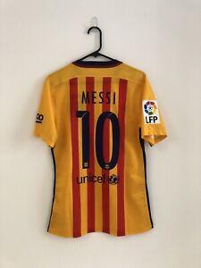 Messi #10 Barcelona 2015/16 Medium Away Player Issue Football Shirt Nike BNWT