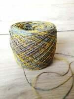 Yarn 100% Tussah Silk Yarn cake Hand knitting Weaving Crochet 100 gr