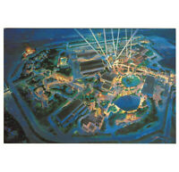 WDW Unused Postcard Disney MGM Studios Artist Rendition Preopen Aerial Map View