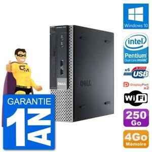 Ultra Mini PC Dell Optiplex 7010 USFF G640 RAM 4Go Disque Dur 250Go Windows 10 W