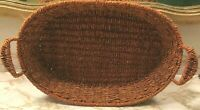 """Vintage, Hand Woven , Beautifully Crafted, Wire Basket 16 1/2"""" x 11 1/2"""""""