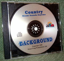 "56000 MODEL RAILROAD SOUND EFFECTS AUDIO CD ""COUNTRY DAY STEAM"""