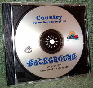 """56000 MODEL RAILROAD SOUND EFFECTS AUDIO CD """"COUNTRY DAY STEAM"""""""