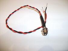 FLASHING RED/BLUE LED 6V. SIZE 3mm WITH CHROME BEZEL