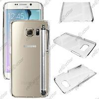 Coque Housse Etui Rigide Transparent Samsung Galaxy S6 edge G925F + Stylet