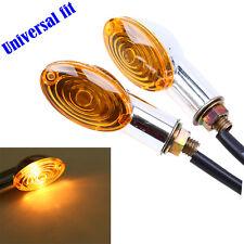 4 x Motorcycle Mini  Turn Signal Light Bulb Lamp 12V Amber Indicators Chrome