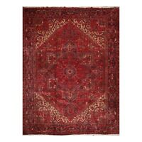 """10'3"""" x 13' Hand Knotted 100% Wool Herizz Traditional Oriental Area Rug Rust"""