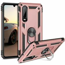 HUAWEI P30 PHONE ARMOUR CASE COVER. RING BRACKET MAGNETIC CAR MOUNT. ROSE GOLD