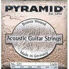 Pyramid Premium Bronze Acoustic Guitar Strings Light 12-52 Model 327 100