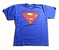 Licensed DC Comics - Superman - Boys 2X-Large 18 Blue T-Shirt 2XL