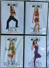 4 The New Method 20/20 workout exercise fitness DVD lot cardio kick precision ab