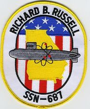 USS Richard B. Russell - SSN 687 - Crest - BC Patch Cat No C5433