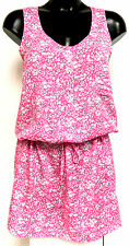 Calvin Klein CK Ladies Pink & White Large Floral Casual Dress / Tunic BNWT