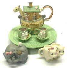 Vtg 1996 Precious Moments Enesco Noah's Ark Mini Tea Set 270121