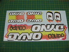Set of Dyno Compe BMX stickers Orange/Yellow