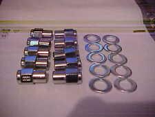 10,1/2x20 mag wheel lug nuts with keystone centered washers,chrome unilug