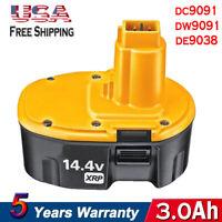 Upgraded For DeWalt 3.0Ah 14.4VOLT XRP Battery Ni-CD DC9091 DW9091 DE9038 DW9094